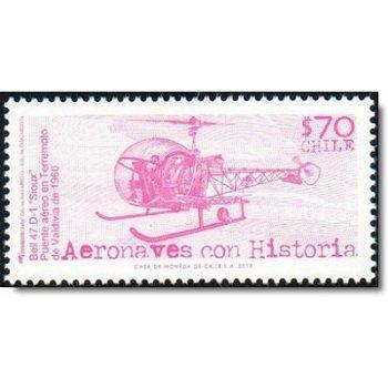 Flugzeuge/Hubschrauber - Briefmarke postfrisch, Chile