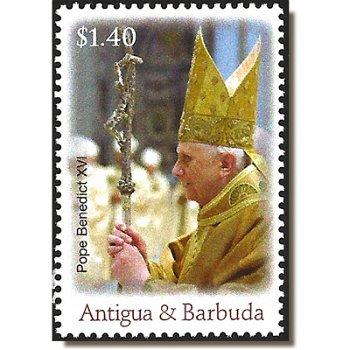 80. Geburtstag von Papst Benedikt XVI. - Briefmarke postfrisch, Antigua-Barbuda