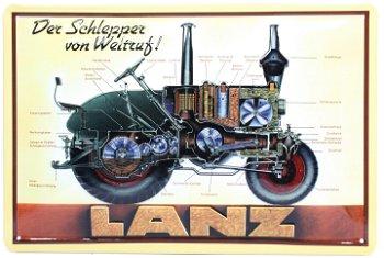 Blechschild:Lanz - Schlepper von Weltruf -(30 x 20 cm)