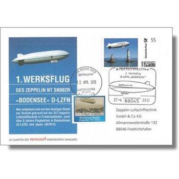 Zeppelin NT, 1. Werksflug Zeppelin NT 'Bodensee' - Beleg, Deutschland
