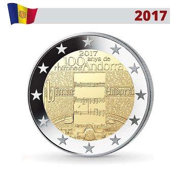 100 Jahre Hymne von Andorra, 2 Euro Gedenkmünze 2017, Andorra