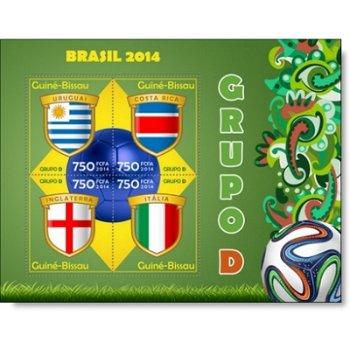 Fußball-Weltmeisterschaft, Gruppe D - Briefmarken-Block postfrisch, Guinea-Bissau