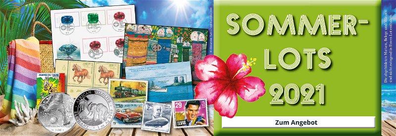 Sommerlots, Urlaub, Briefmarken, Münzen, Sammelstücke, jetzt bestellen