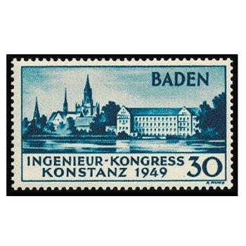 Engineering congress in Konstanz - postage stamp mint, catalog no. 46I, French Zone Baden