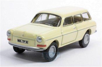 Modellauto:VW Type 3 1600 Variant, hellgelb(Premium ClassiXXs / BUB, 1:87)