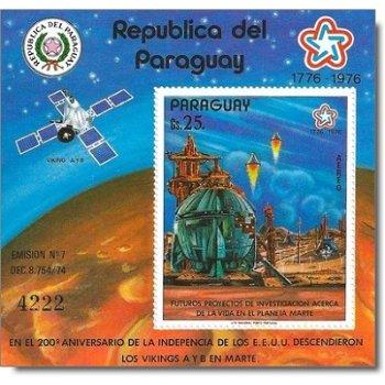 Eroberung des Mars - Briefmarken-Block postfrisch, Katalog-Nr. 2901 Bl. 295, Paraguay