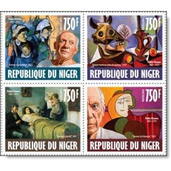Pablo Picasso - 4 Briefmarken postfrisch, Niger