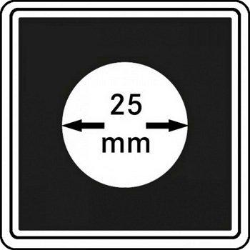 Münzkapseln CARRÉE 25 mm, 4er Pack, LI 2240025