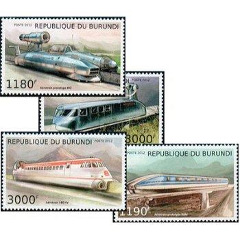 Hochgeschwindigkeitszüge - 4 Briefmarken postfrisch, Burundi