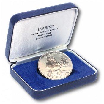 James Cook - Endeavour, 1 Dollar Münze 1970, Cook Inseln