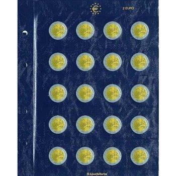 2 Münzblätter Vista für 2-Euro-Münzen, Leuchtturm 312494