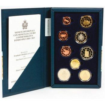 Kursmünzensatz 2013, inklusive 2 Euro Münze Pinturicchio, polierte Platte, San Marino