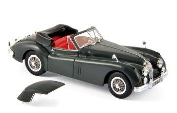 Modellauto:Jaguar XK 140 Cabriolet von 1957, dunkelgrau(Norev, 1:43)