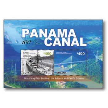 100 Jahre Panamakanal - Briefmarken-Block postfrisch, Guyana