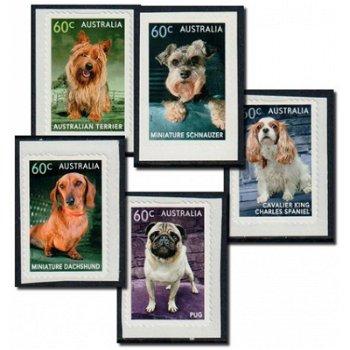 Hunde - 5 Briefmarken selbstklebend aus Markenheftchen postfrisch, Australien