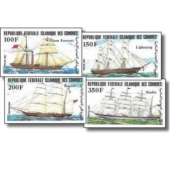 Schiffe – Briefmarken postfrisch, ungezähnt, Katalog-Nr. 718-721, Komoren
