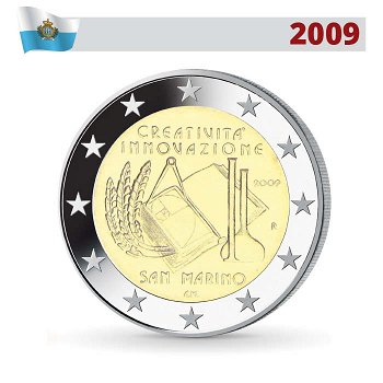 2 Euro Münze 2009, Kreativität und Innovation, San Marino