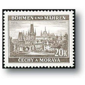 Neue Landschaften - 7 Briefmarken postfrisch, Katalog Nr.55 - 61, Böhmen und Mähren