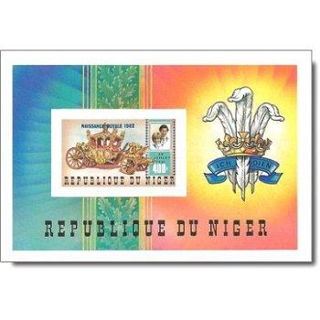 Geburt von Prinz William von Wales - Briefmarken-Block ungezähnt postfrisch, Katalog-Nr. 807 Bl. 38B