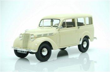 Modellauto:Renault Break 300 kg Juvaquatre von 1951, elfenbein(Norev, 1:18)