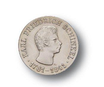 10-Mark-Münze 1966, 125. Todestag Karl Friedrich Schinkel, DDR