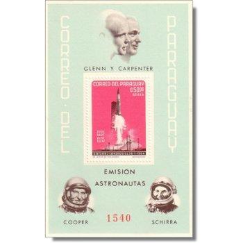 Amerikanische Raumfahrt - Briefmarken-Block postfrisch, Block 56, Paraguay