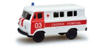 Modellauto:UAZ 452 - Rotes Kreuz -(Herpa, 1:87)