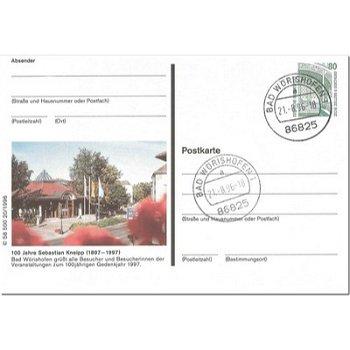 """8939 Bad Wörishofen - Bildpostkarte """"100jährigen Gedenkjahr von Sebastian Kneipp"""""""