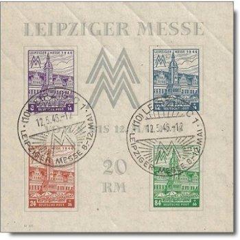 Leipziger Messe, Block 5y gestempelt, Katalog-Nr. 162-65, Sowjetische Zone West-Sachsen