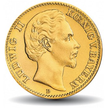 20 Mark Goldmünze König Ludwig II., Katalog-Nr. 194, Königreich Bayern