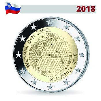 Weltbienentag, 2 Euro Münze 2018, Slowenien