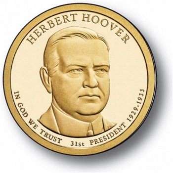 Herbert Clark Hoover, Präsidentendollar 2014, USA