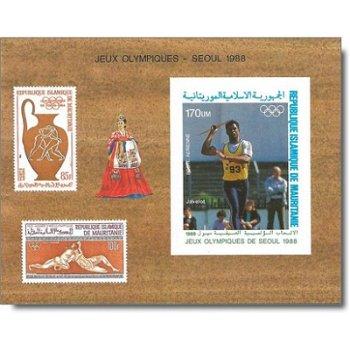 Olympische Sommerspiele 1988, Seoul - Briefmarken-Block ungezähnt postfrisch, Katalog-Nr. 930 Bl. 70
