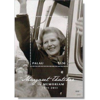 Margaret Thatcher - Briefmarken-Block postfrisch, Palau