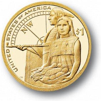 Vogelfrau Sacagawea 2014, Münze USA