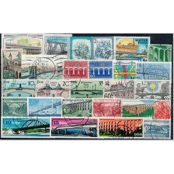 Bridges - 50 different stamps