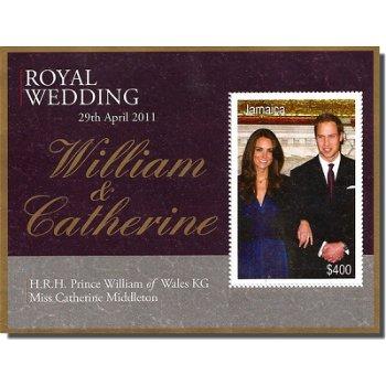 Königliche Hochzeit William und Kate - Briefmarken-Block, Katalog-Nr. 1169/Bl. 62, Jamaica