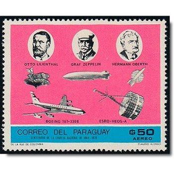 Fortschritte in der Weltraumforschung - Briefmarke postfrisch , Katalog-Nr. 1909, Paraguay