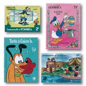 Walt Disney - Briefmarken-Paket, 100 Briefmarken
