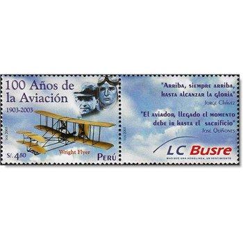 100. Jahrestag des ersten Motorfluges der Brüder Wright - Briefmarke zusammenhängend gedruckt postfr
