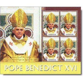 Papst Benedikt XVI. - Briefmarken-Block postfrisch, Grenada