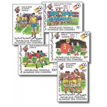 Gewinner der Fußball-Weltmeisterschaft 1982, Spanien – Briefmarken postfrisch, ungezähnt, Katalog-Nr