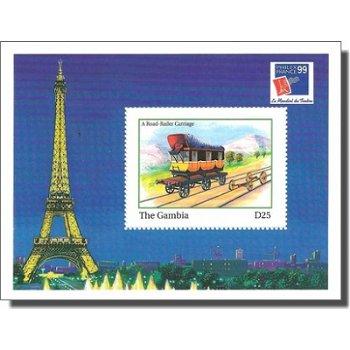 Briefmarkenausstellung PHILEXFRANCE '99 - Briefmarken-Block postfrisch, Gambia