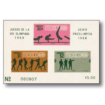 Olympische Spiele 1968 - Briefmarkenblock postfrisch, Mexiko