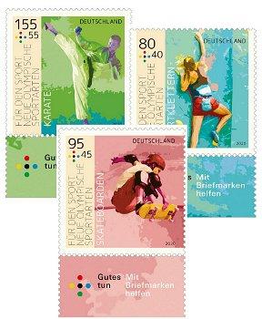 Für den Sport 2020 - 3 Briefmarken postfrisch, Bundesrepublik Deutschland
