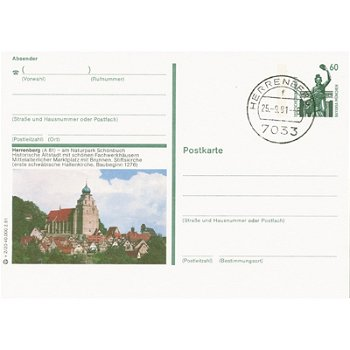 7033 Herrenberg - picture postcard