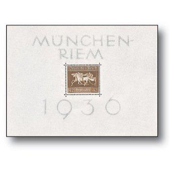 Braunes Band 1936 - Briefmarken-Block postfrisch, Katalog-Nr. 621 Bl. 4, Deutsches Reich