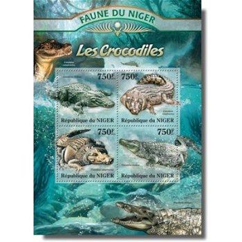 Krokodile - Briefmarken-Block postfrisch, Niger