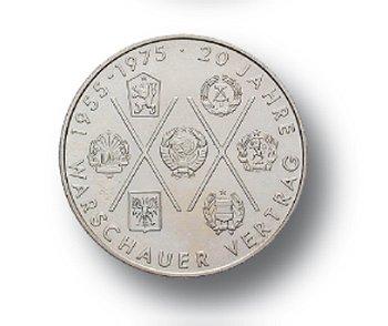 10-Mark-Münze 1975, 20 Jahre Warschauer Vertrag, DDR