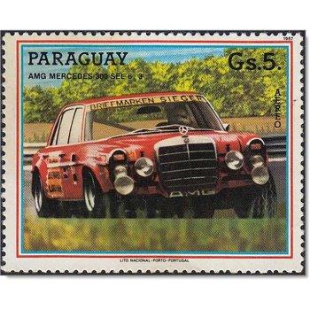 AMG Mercedes-Rote Sau - Briefmarke postfrisch, Mi-Nr: 4091, Paraguay